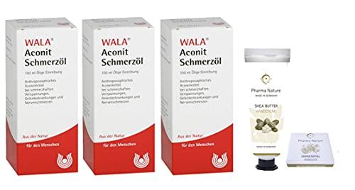 Wala Aconit Schmerzöl Sparset mit 3 x 100 ml inklusive einer Handcreme ODER Handseife der Marke Pharma Nature