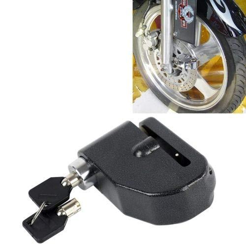 2 in1 Mechanische abschließbare Alarmanlage + Wegfahrsperre für Motorräder