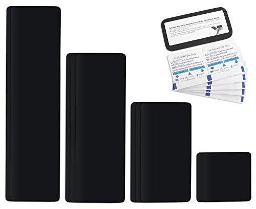 Parche para reparar toldos de semirremolques | disponible en multitud de colores | Easy Patch Comfort 100 mm de ancho - 10 piezas - | Negro RAL 9005