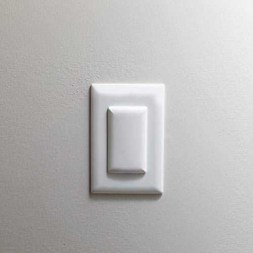 Qdos StayPut Double Outlet Plug Cover - One Plug Covers both Outlets! - Secure Fit and Beveled Edges Prevent Small Fingers from Removing Unlike Inferior Products| Fits All Outlets | 6 pack | White