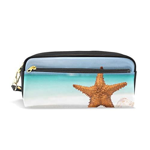 Crayon Étui à crayons Étui de voyage Sea Ocean Starfish Plage Maquillage Cosmétique pour Filles Garçons École de Voyage