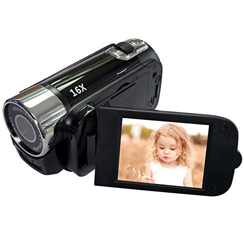 Digitale Camcorder-Videokamera 1080P Full HD 270°Drehung Weitwinkel-Vlogging-Kamera Recorder,1080p Mini DV Video Camcorder für Kinder/Kinder/Anfänger/Jugendliche