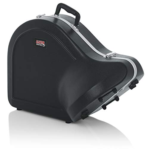 Gator Cases Lightweight Molded French Horn Case with Locking Latch and Plush Lined Interior (GC-FRENCHHORN)
