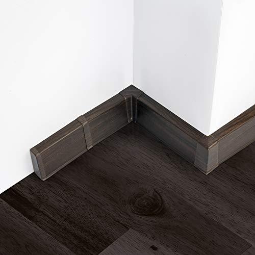 [DQ-PP] Außenecke 55mm PVC Wenge Laminatleisten Fussleisten aus Kunststoff PVC Laminat Dekore Fußleisten