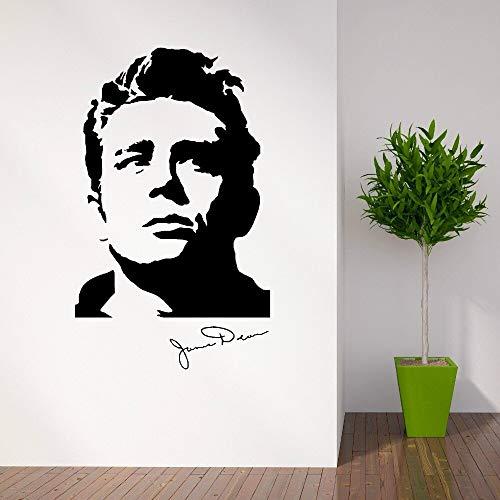 Actor Estadounidense James Dean años 50 Vinilo ArteEtiqueta de la Pared Decoración de la Sala de Estar del hogar Mural de la Pared removible Decoración Wallpaper 57x95 cm