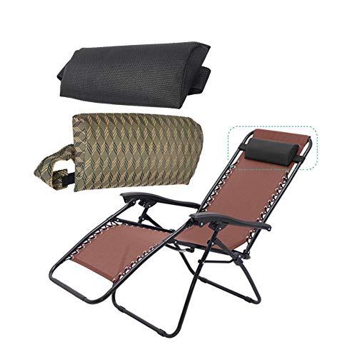 Remplacement universel appui-tête ensemble de tête appui-tête coussin de coussin pour les chaises pliantes à élingue/inclinable/chaise longue pour piscine de jardin patio