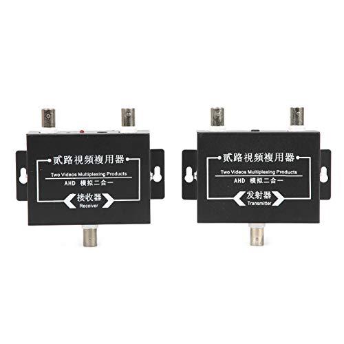 Transmisor de Video 2 en 1, Convertidor de Video de 2 Canales y 5MP, Cámaras analógicas estándar para reuniones remotas para transmisor de Receptor Sistema de Seguridad CCTV Cámaras estándar