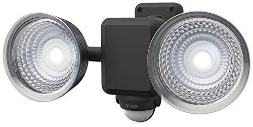 ムサシ RITEX フリーアーム式LEDセンサーライト(1.3W×2灯) 「乾電池式」 防雨型 LED-225