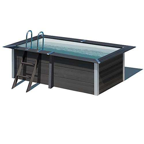 Gre Piscina Rectangular Madera Composite 326X186X96 cm KPCOR2814
