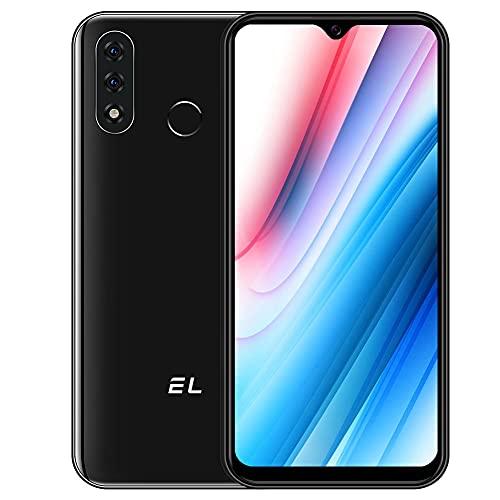 Cellulari Offerta 4G EL D60 Pro Android 10.0 Smartphone, 3GB+32GB, 6,1 Pollici, Batteria 4000mAh, 13MP+2MP+8MP Tripla Fotocamera, Dual SIM Sblocco Facciale Impronta Digitale Nero