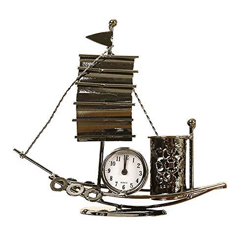 CAPTIANKN Hochwertige Retro-Navigationsuhr, Metallnavigationsuhr, Klassische Desktop-Retro-Uhr Für Die Außen- / Heimdekoration