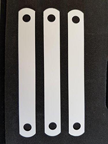 Deckleisten aus Kunststoff, weiß, 120 mm lang, Lochung 80 mm, VPE 50 Stück