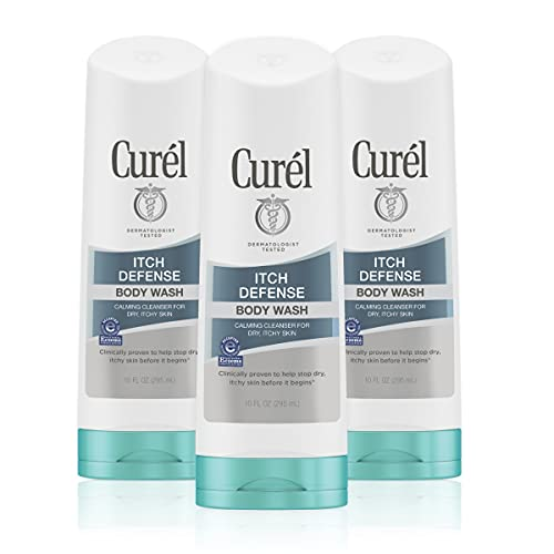 Curél Itch Defense Calming Body Lotion, Moisturizer for Dry, Itchy Skin, Body and Hand Lotion, with Advanced Ceramide Complex, 13 Ounce, Pro-Vitamin B5, Shea Butter