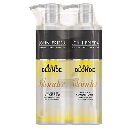 John Frieda Duo Pack Sheer Blonde Go Blonder Lightening Shampoo and Conditioner...