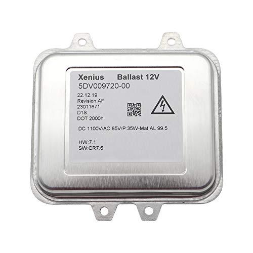 RANZIX Xenon-Scheinwerfer-Einheit Vorschaltgerät D1S Gasentladungslampe für O pel Beleuchtung 5DV 009720-001 12V