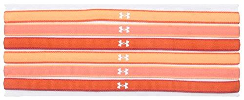 Under Armour Women's Mini Headbands, Dark Orange /White, One Size Fits All