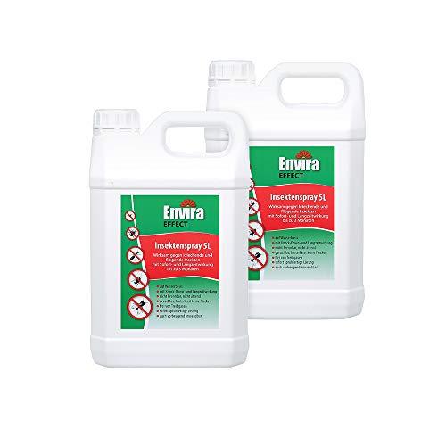 Envira Effect Universal-Insektizid - Insektenspray Mit Langzeitwirkung - Anti-Insekten-Mittel, Wasserbasis - 2x5Ltr