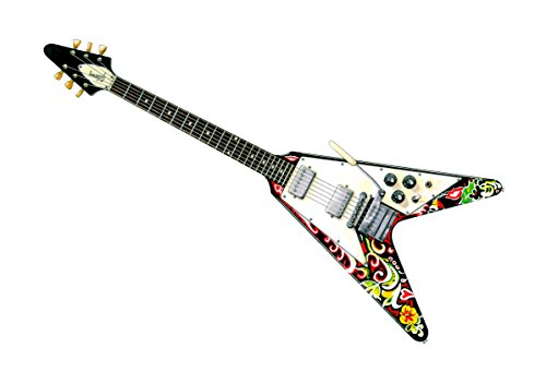 George Morgan Illustration Jimi Hendrix 1967 Gibson Flying V Gitarre Format A1 Poster Print