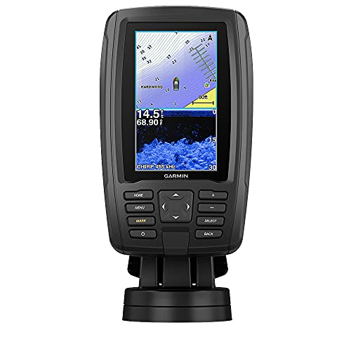 Garmin ECHOMAP Plus 43cv, 4.3-inch Sunlight-readable Combo, Includes GT20 Transducer, with U.S. Lakevu G3 Maps and Clearvu and Traditional Chirp Sonar