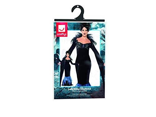 Smiffys Costume Dama Corvo, comprende Abito con Piume attaccate