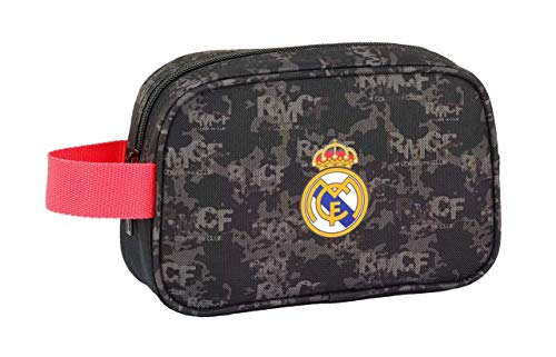 Safta Real Madrid - Neceser de Viaje, Negro, 22 cm