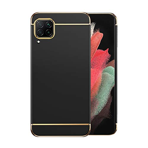 Compatible con Huawei P40 Lite Funda Huawei P40 Lite Funda 360 Grados Original Case Cover 3 en 1 Rosa Ultra Delgada Antideslizante (Negro, Huawei P40 Lite)