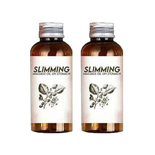 30ML BellyOff Herbal Slimming Massage Oil, Essential Organic Lymphatic Drainage Ginger Oil,Anti Cellulite Massage Oil, Tighten & Moisturize Skin, Slimming Essential Oil for Tummy,Abdomen,Arms (2PCS)