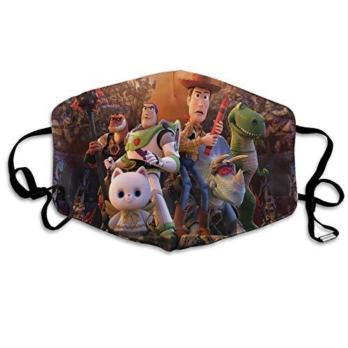 Cartoon Toy Story Cara Masc Bandana Headwear lindo dulce corazón formas en fondo borroso romántico día de San Valentín diseño