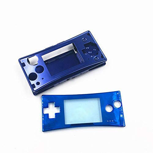 Faceplate Cover Replacement Front Shell Housing Case for Nintendo Game Boy Micro GBM (Blue)