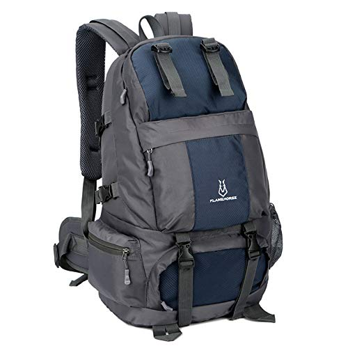 Lixada hiking backpack 50L waterproof trekking backpacks with shoe compartment for climbing camping mountaineering dark blue
