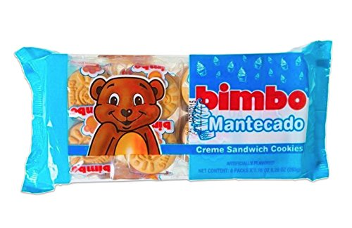 Bimbo Mantecado Creme Sandwich Cookies - 9.28 Ounces (8 individual packets per Pack)