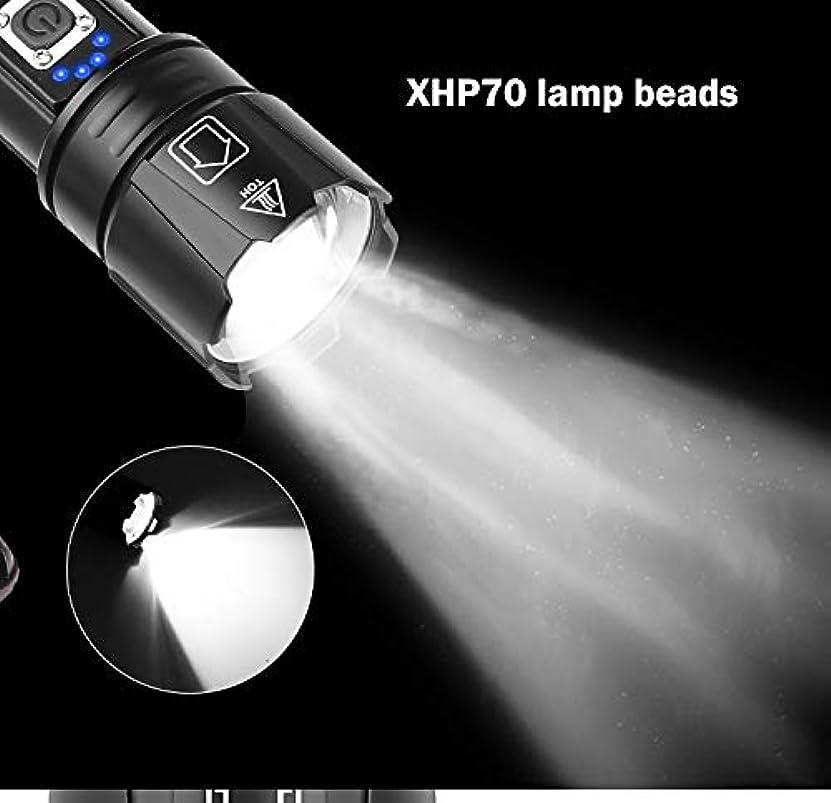 ペニー学期間ACHICOO 懐中電燈 多機能 XHP70調光 5モード USB充電 LED ワークライト フラッドライト 超高輝度 防災対策 仕事 軽量 持ち便利