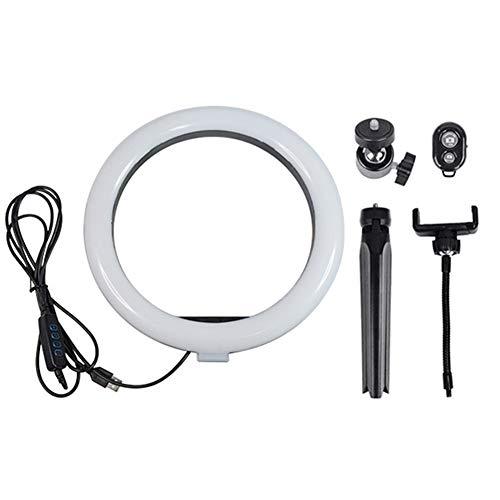 MongKok Led-ring met driepoot, 10 inch, voor camera, mobiele telefoon, selfie video, live stream