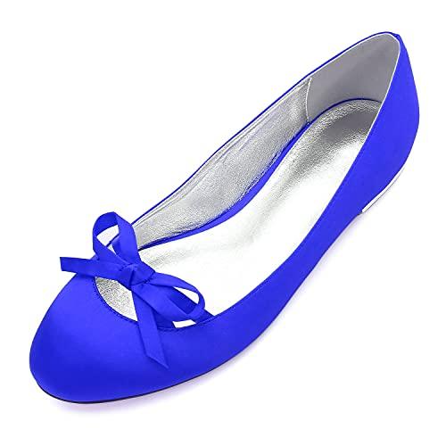 Zapatos Ballet Flats Mujer Tacón Bajo con Punta Cerrada Redonda Zapatos De...