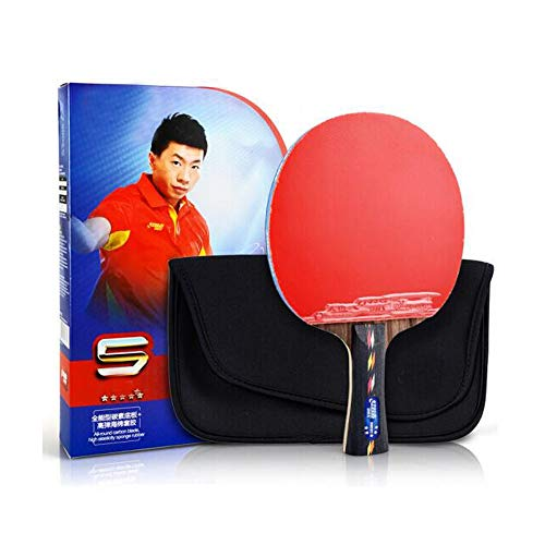 Cheapest Price! HUIJUNWENTI Table Tennis Racket, Five-Star Horizontal Shot, Carbon Floor Anti-Stick ...