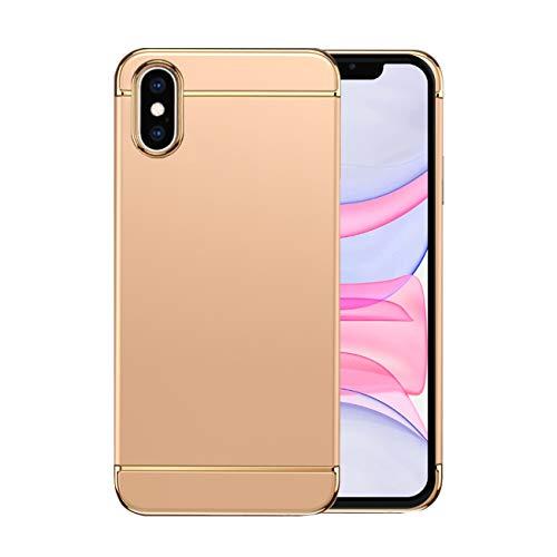 Funda iPhone X Apple Case,Fundas iPhone X Antigolpes Carcasa Diseño Minimalista Estuche Rígido Ultra Original Delgado de PC a Prueba (iPhone X, Dorado)