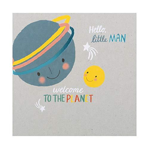 Hallmark - Tarjeta de felicitación de nacimiento para bebé (diseño de planetas)