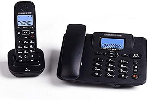 HHORB Juego De Teléfono Inalámbrico Digital con Pantalla LCD Teléfono De Línea Fija con Botón Pulsador Y Contestador Automático - Paquete De 2 (Color: Blanco),Negro