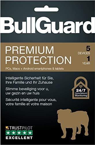 Bullguard Premium Protection 2018 - Abonnement 1 an / 5 appareils [Code Jeu ]