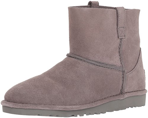 UGG Women's Classic Unlined Mini Slouch Boot, CHARCOAL, 10 M US