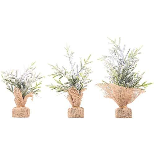 ZLJ Small Artificial Pine Picks for Christmas Flower Arrangements Wreaths Burlap Jute Bag Home Table Decoration for Christmas Mardi Gras