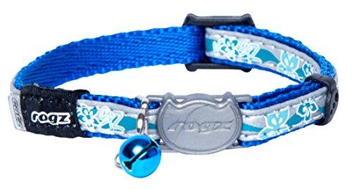 Rogz CB08-B Halsband Nightcat, S, blau