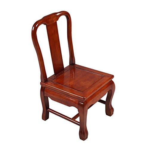 TMY Chaise en bois massif pour petite chaise de dossier Chaise pour enfant Petite chaise de salle à manger Chaise de sofa (Color : Pear color, Taille : 36 * 39 * 68CM)