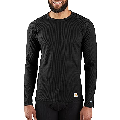 Carhartt Men's Base Force Midweight Classic Crew, Black, X-Large