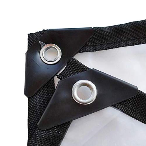 LLCXL transparante dekzeilen waterdicht, transparant zeil avec Oeillet MéTallique roosterafdekking twee-draad-design sterk en duurzaam, transparant 9 x 18 ft/3 x 6 m