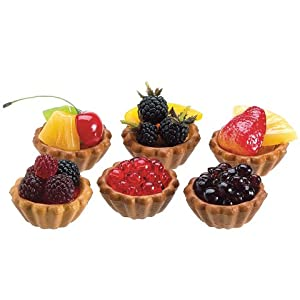 ticohomedecor Fake Berry Fruit TARTS strawberry,berry artificial fruit