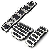 CUHAWUDBA Accesorio De Coche para Land Range Rover Sport/Discovery 3 4 Lr3 Lr4 Pegatina De Reajuste Almohadilla Pedal Modificado De Reposapies Acelerador De Gas