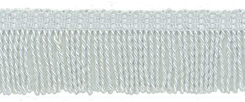 DÉCOPRO 10 Yard Value Pack / 2 Inch Long White Thin Bullion Fringe Trim/Style# BFT2, Color: A1 (30 Ft / 9.1M)