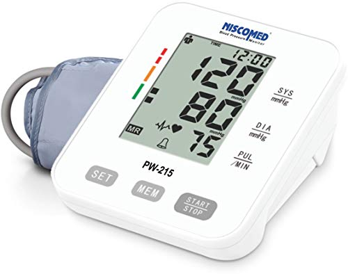 Niscomed Digital BP Monitor with LCD Display colour changing function