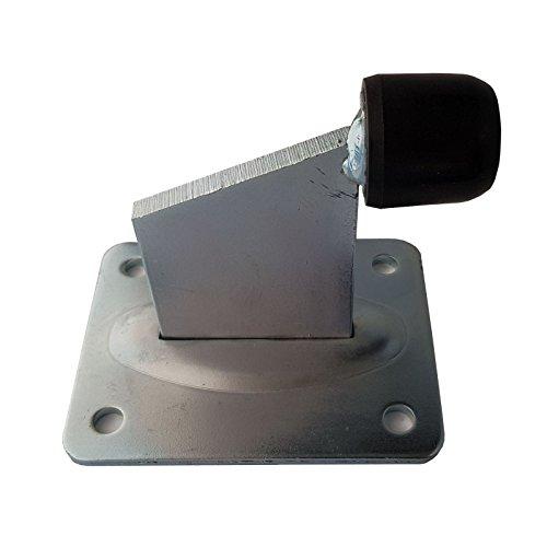 SO-TOOLS® Torstopper Höhe 118 mm verzinkt mit Ankerplatte 130 x 100 mm Türstopper für Rolltore und schwere Türen